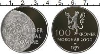 Изображение Монеты Норвегия 100 крон 1999 Серебро Proof