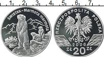 Изображение Монеты Польша 20 злотых 2006 Серебро Proof- Альпийский сурок