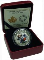 Изображение Подарочные монеты Канада 10 долларов 2014 Серебро Proof Арлекинская утка. Ор