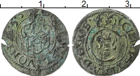 Изображение Монеты Рига 1 солид 1655 Серебро VF Кристина