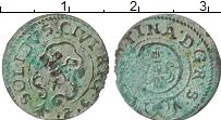 Изображение Монеты Рига 1 солид 1652 Серебро VF Кристина.Рига в сост