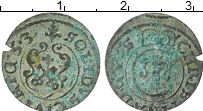 Изображение Монеты Рига 1 солид 1653 Серебро VF Кристина.Рига в сост
