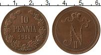 Изображение Монеты Финляндия 10 пенни 1914 Медь XF