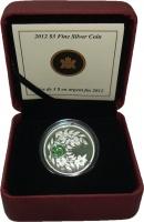 Изображение Подарочные монеты Канада 3 доллара 2012 Серебро Proof Август. Оригинальная