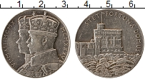 Изображение Монеты Великобритания Жетон 1935 Серебро XF 25 лет правления Гео