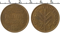 Изображение Монеты Палестина 2 милса 1927 Бронза XF Растение