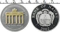 Изображение Монеты Науру 10 долларов 2002 Серебро UNC-