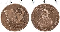 Изображение Монеты Мальта 2 евроцента 2003 Медь UNC-