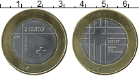 Изображение Монеты Словения 3 евро 2016 Биметалл UNC-
