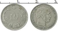 Изображение Монеты Дания 10 эре 1905 Серебро VF