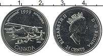 Изображение Монеты Канада 25 центов 1999 Медно-никель UNC