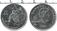 Изображение Мелочь Канада 25 центов 2009 Медно-никель UNC Елизавета II. ПараОл