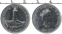 Изображение Монеты Канада 25 центов 1992 Медно-никель UNC Елизавета II. 125-ле