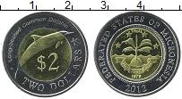 Продать Монеты Микронезия 2 доллара 2012 Биметалл