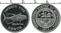 Продать Монеты Микронезия 25 центов 2012 Медно-никель