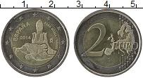 Изображение Монеты Испания 2 евро 2014 Биметалл UNC