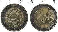 Изображение Монеты Германия 2 евро 2012 Биметалл UNC- 10 лет наличному обр