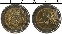 Изображение Монеты Италия 2 евро 2012 Биметалл UNC- 10 лет наличному обр