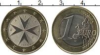 Продать Монеты Мальта 1 евро 2008 Биметалл