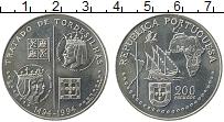 Изображение Монеты Португалия 200 эскудо 1994 Медно-никель UNC- Открытия. 500 лет То