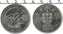 Изображение Мелочь Португалия 200 эскудо 2000 Медно-никель UNC Открытие Гренландии,