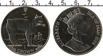 Изображение Монеты Остров Мэн 1 крона 1988 Медно-никель UNC