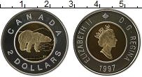 Изображение Монеты Канада 2 доллара 1997 Серебро Proof Елизавета II. Белый