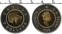 Изображение Монеты Канада 2 доллара 1998 Серебро Proof Елизавета II. Белый