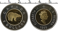 Изображение Монеты Канада 2 доллара 1999 Серебро Proof