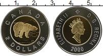 Изображение Монеты Канада 2 доллара 2000 Серебро Proof