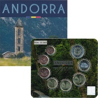 Изображение Подарочные монеты Андорра Евронабор 2016 года 2016  UNC