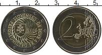 Изображение Монеты Словакия 2 евро 2016 Биметалл UNC