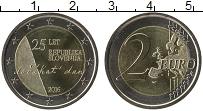 Продать Монеты Словения 2 евро 2016 Биметалл
