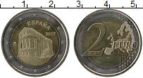 Изображение Монеты Испания 2 евро 2017 Биметалл UNC