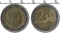 Изображение Монеты Италия 2 евро 2013 Биметалл UNC 700 лет со дня рожде
