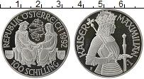 Изображение Монеты Австрия 100 шиллингов 1992 Серебро Proof