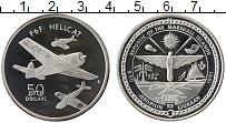 Изображение Монеты Маршалловы острова 50 долларов 1991 Серебро Proof Самолет F6F HELLCAT