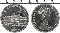 Изображение Мелочь Остров Мэн 1 крона 1994 Медно-никель UNC Елизавета II.  День