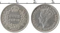 Продать Монеты Британская Гвиана 4 пенса 1942 Серебро