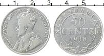 Изображение Монеты Ньюфаундленд 50 центов 1918 Серебро XF-