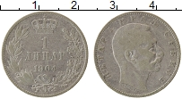 Изображение Монеты Сербия 1 динар 1904 Серебро XF-