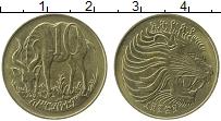 Изображение Монеты Эфиопия 10 центов 1977 Латунь XF