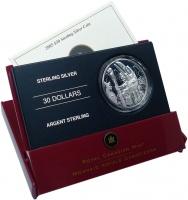 Изображение Подарочные монеты Канада 30 долларов 2005 Серебро Proof Тотемный столб. Сере