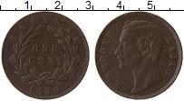 Изображение Монеты Саравак 1 цент 1889 Бронза XF Раджа Брук