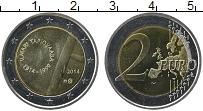 Изображение Монеты Финляндия 2 евро 2014 Биметалл UNC