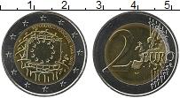 Изображение Монеты Франция 2 евро 2015 Биметалл UNC 30 лет флагу Евросою