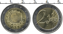 Изображение Мелочь Люксембург 2 евро 2015 Биметалл UNC 30 лет флагу Евросою
