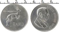 Изображение Монеты ЮАР 1 ранд 1967 Серебро XF Антилопа-прыгун. Хен