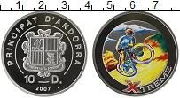 Изображение Монеты Андорра 10 динерс 2007 Серебро Proof Цифровая печать. Экс