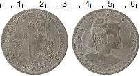 Изображение Монеты Бразилия 400 рейс 1932 Медно-никель XF Надчекан на 1901 год